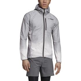 adidas TERREX Agravic Windweave Veste Homme, grey four/white